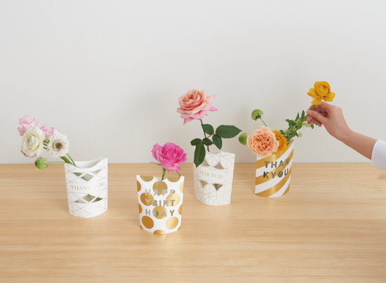 MESSAGE FLOWER VASE 梅野聡 umenodesign
